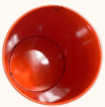 ac0112オランダのレトロなオレンジ色ビスケット缶 L