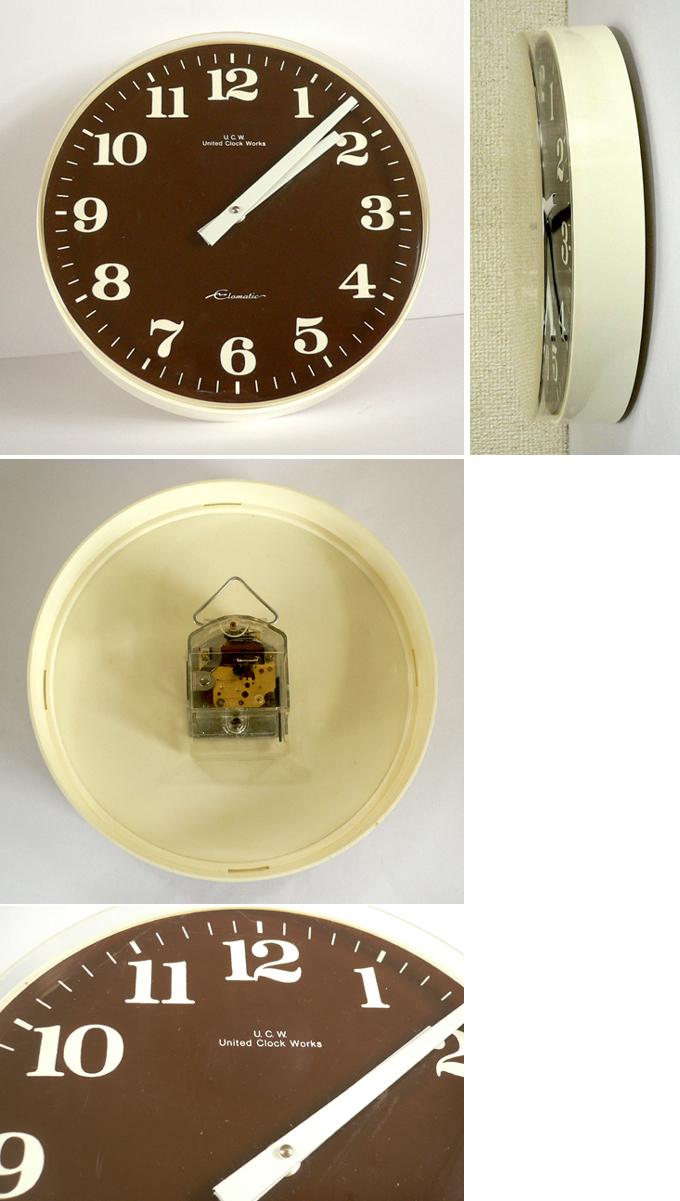 ac0181ドイツ製ウォールクロック*amber design*北欧家具やビンテージ雑貨等のインテリア通販