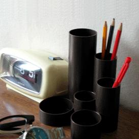 ac0210西ドイツ製ペンホルダーブラック*amber design*北欧家具やビンテージ雑貨等のインテリア通販