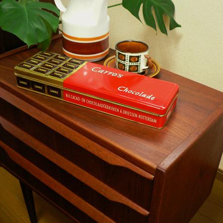 ac0220アンティークチョコレート缶*amber design*北欧家具やヴィンテージ雑貨等のインテリア通販