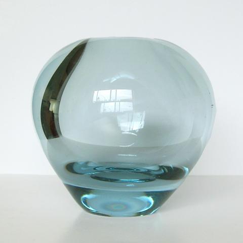 Holmegaardガラスベース アクアブルー