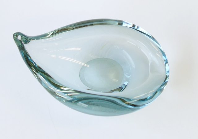 ヴィンテージガラス灰皿 ホルムガード