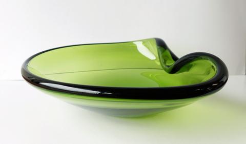 ホルムガード グリーン ガラス灰皿