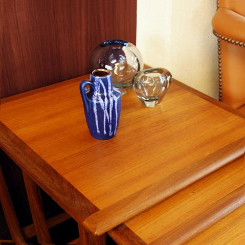 西ドイツ製花瓶 ブルー