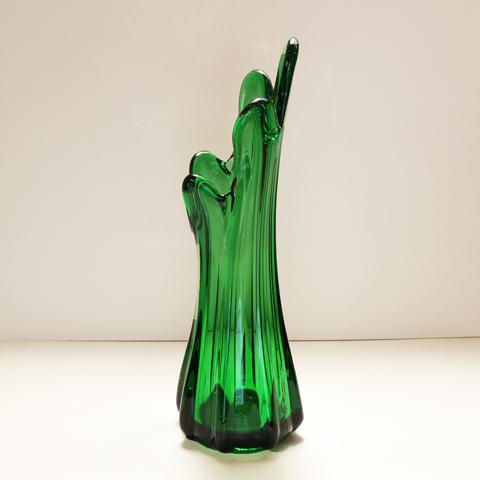 ヴィンテージ フラワーベース ガラス