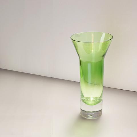 ヴィンテージ グリーンガラス フラワーベース