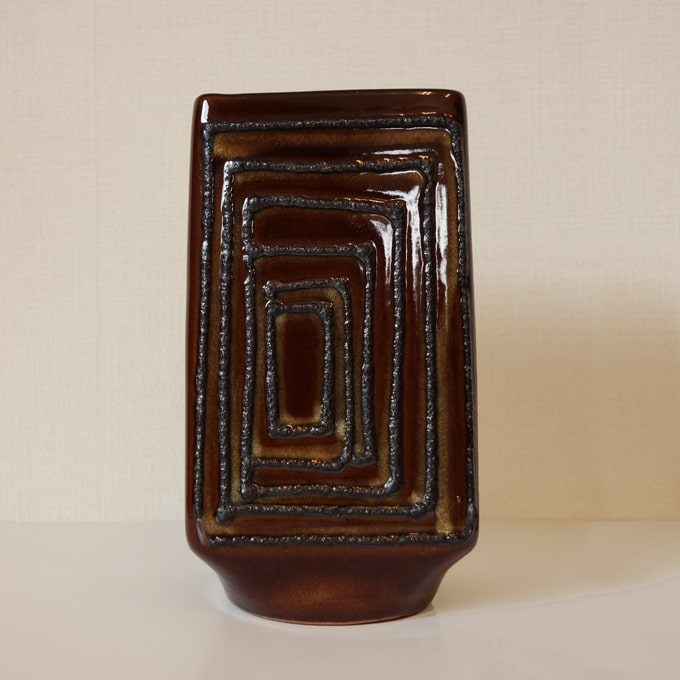 ヴィンテージ陶器フラワーベース