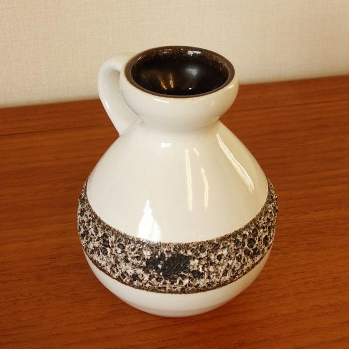西ドイツのヴィンテージ花瓶 持ち手付き