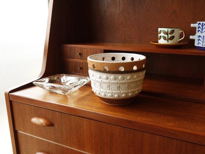 ヴィンテージ鉢カバー 白