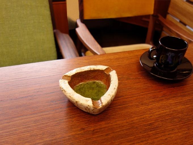 ヴィンテージ灰皿 三角形陶器