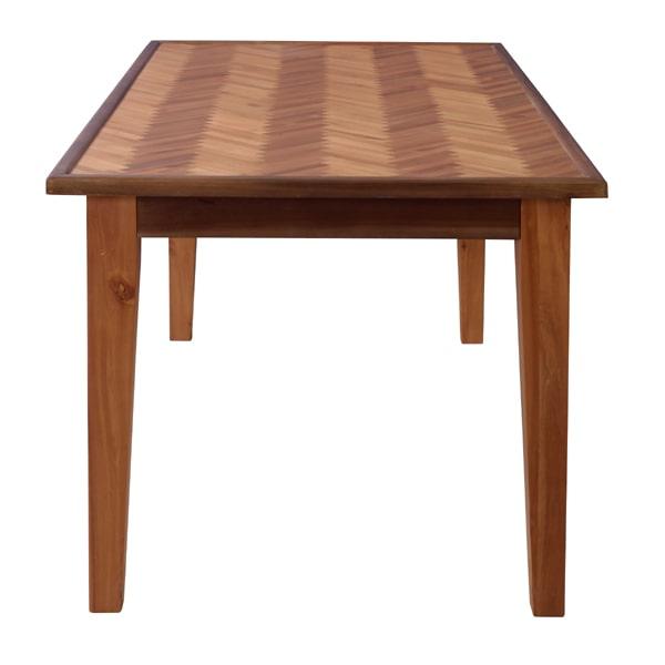 ヘリンボーンのダイニングテーブル 側面