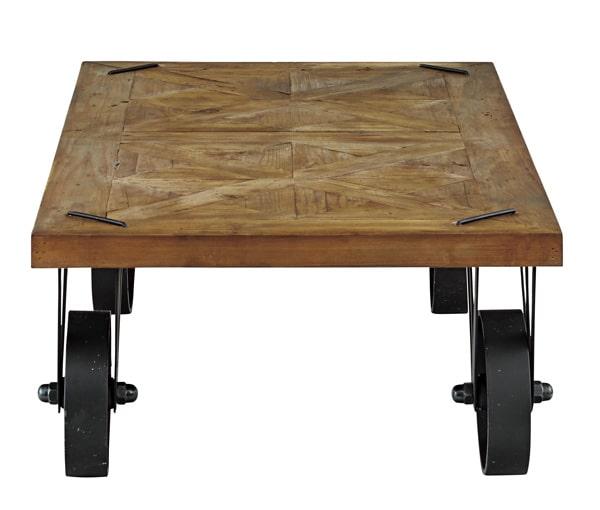 インダストリアルなローテーブル側面