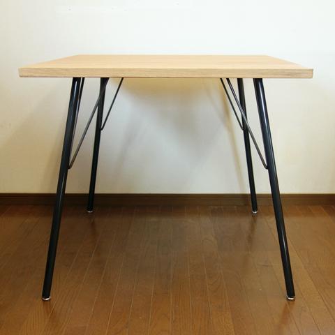 無垢材×鉄脚ダイニングテーブル 80X80cm
