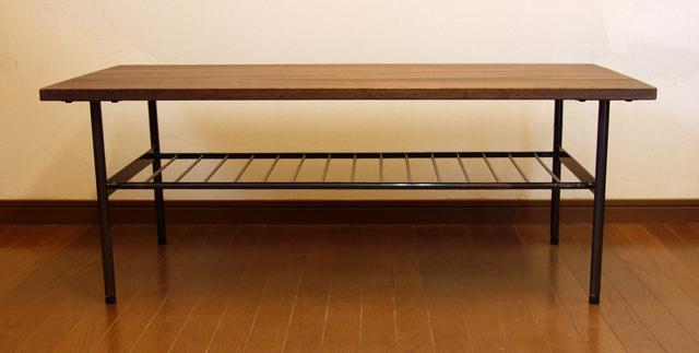 ローテーブル 無垢材 鉄脚