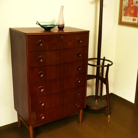 ft0177デンマークのビンテージ6段チェスト *amber design*北欧中古家具やビンテージ雑貨等のインテリア通販