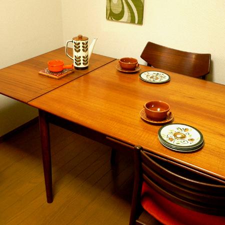 tw0228デンマーク製天板拡張式ダイニングテーブル*amber design*北欧家具やビンテージ雑貨等のインテリア通販