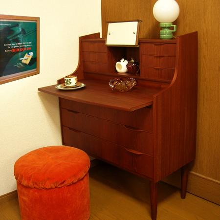 ft0290ライティングビューロー(ドレッサー)*amber designビンテージ北欧中古家具アンティーク雑貨通販アンバーデザイン