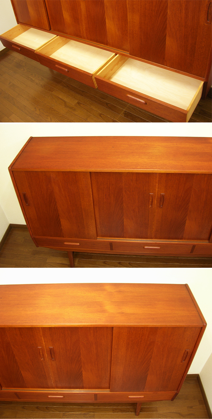 チーク・サイドボード天板amber designビンテージ北欧中古家具アンティーク雑貨通販アンバーデザイン