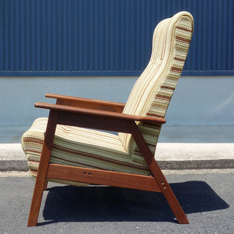 北欧アンティーク椅子 縦じま