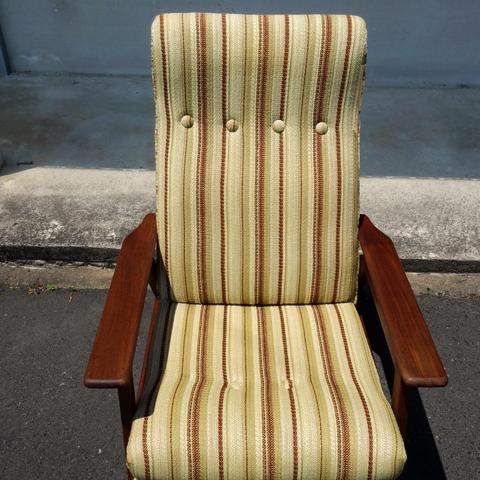 ストライプ 安楽椅子 ビンテージ