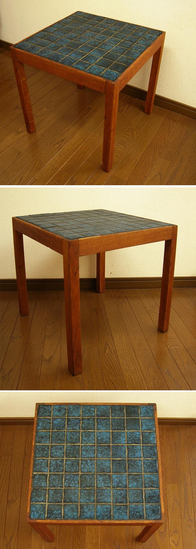 北欧のタイルテーブル全体 amber designビンテージ家具通販