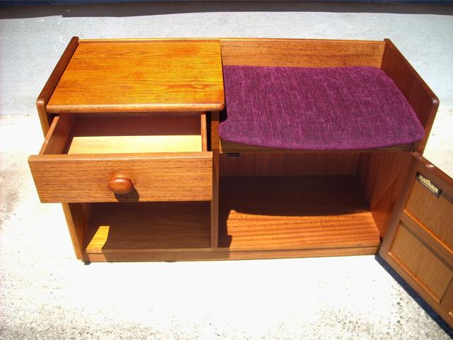 ビンテ-ジ家具ネイサン・椅子付き収納