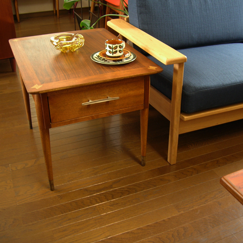 ヴィンテージ木製サイドテーブル60年代