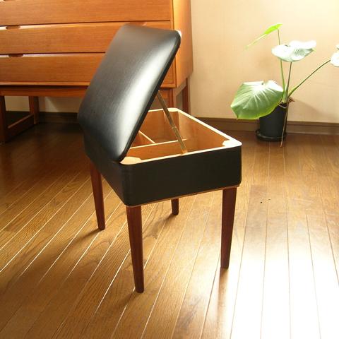 ビンテージ椅子 収納付きスツール