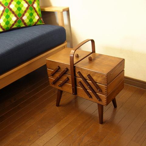 ソーイングボックス 木製 アンティーク