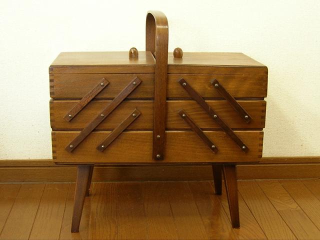 木製ソーイングボックス
