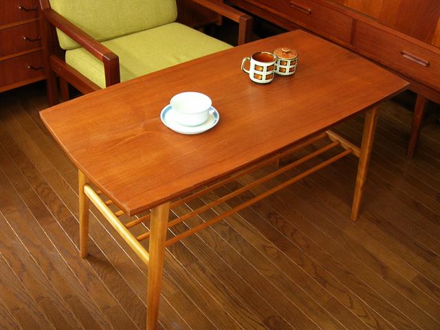 チークのコーヒーテーブル北欧ヴィンテージ
