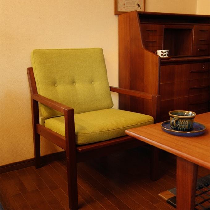 北欧ビンテージ椅子 ウッドアームチェア