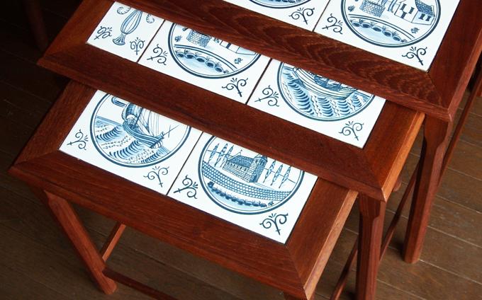 デンマークのビンテージ・タイルテーブル