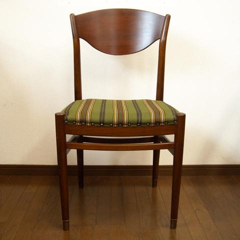 北欧ヴィンテージ椅子 ストライプ