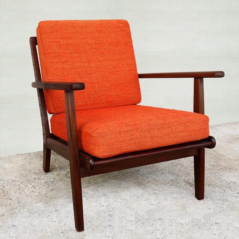 北欧ビンテージ椅子 オレンジ