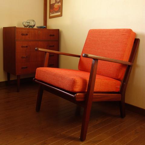 北欧ヴィンテージ椅子 一人掛けソファ