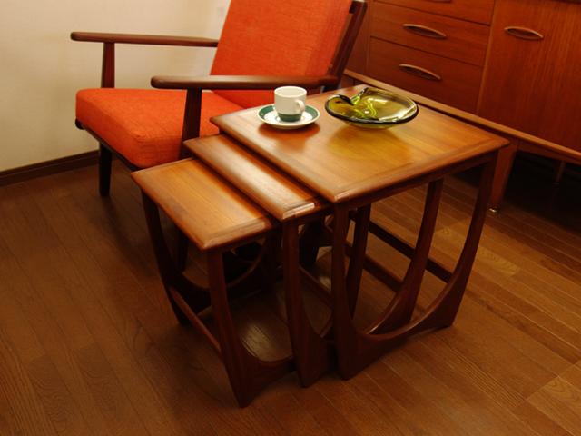 ヴィンテージ家具G-PLANネストテーブル
