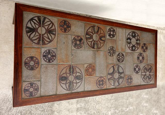 幾何学模様タイルテーブル 北欧家具