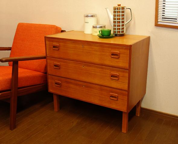 3段チェスト デンマークのヴィンテージ家具