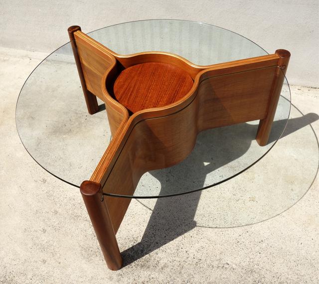 ガラス コーヒーテーブル アンティーク家具