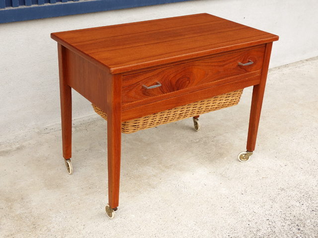 ソーイングBOXテーブル 北欧ヴィンテージ家具