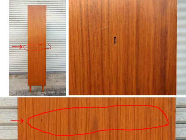 木製本棚 側面状態