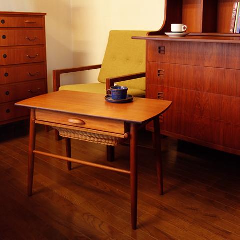 ソーイングテーブル 北欧ヴィンテージ家具