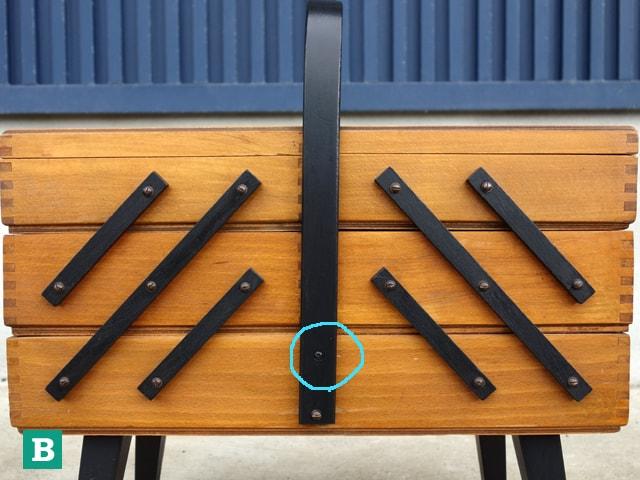 イギリスビンテージ木製ソーイングBOX B