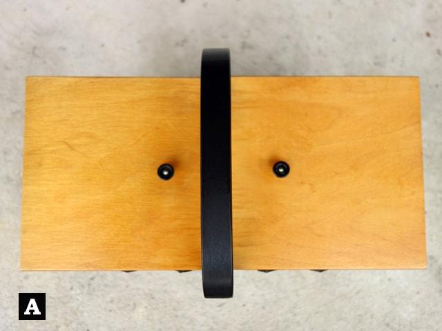 木製ソーイングボックス蓋A