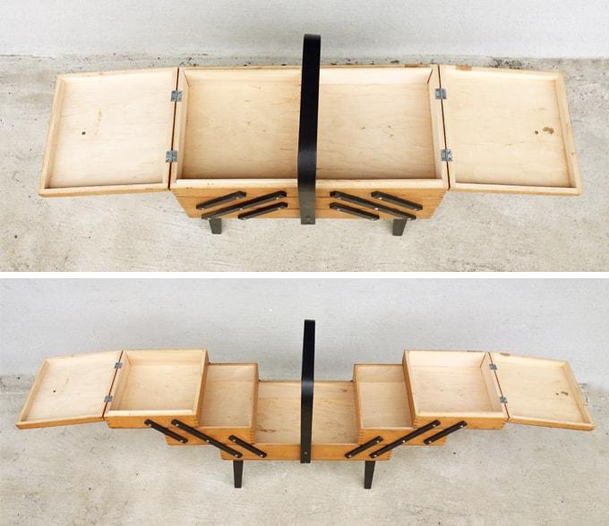 木製ソーイングBOX イギリスビンテージ