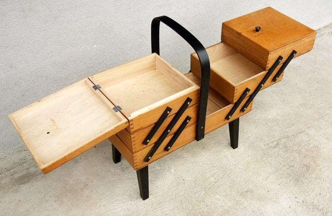 木製裁縫箱 イギリスアンティーク
