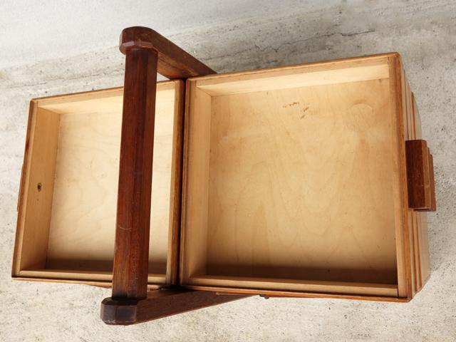 ヴィンテージ木製裁縫箱