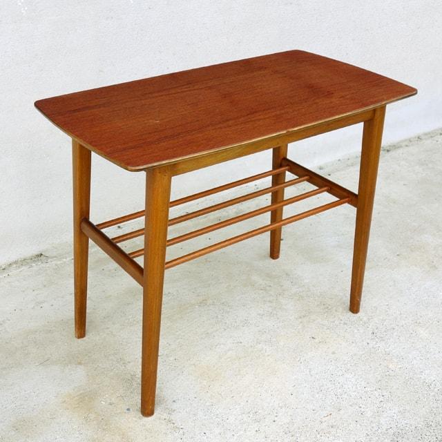 木製サイドテーブル 北欧ヴィンテージ