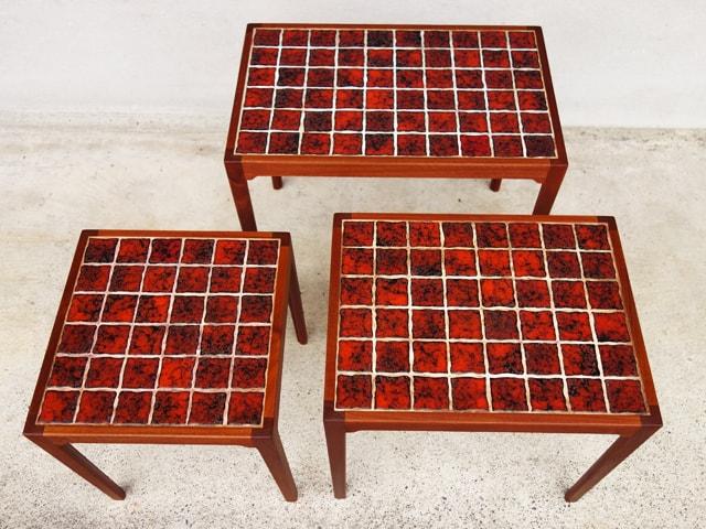 タイルトップテーブル 3個セット